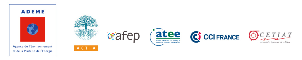 Logos des partenaires : ADEME, CTIA, AFEP, ATEE, CCI France, CETIAT